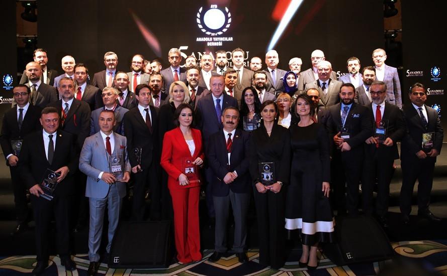 ATO başkanı Baran, ödülünü Cumhurbaşkanı Erdoğan'dan aldı