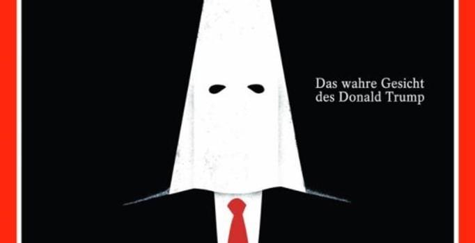 Avrupa basını Donald Trump'ı Ku Klux Klan destekleyicisi olarak resmetti