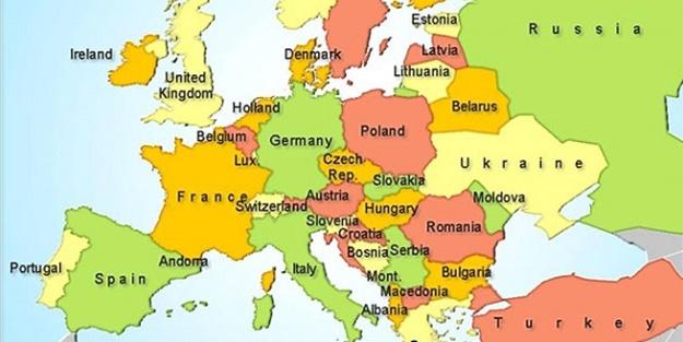 Avrupa kıtasındaki ülkeler hangileridir?