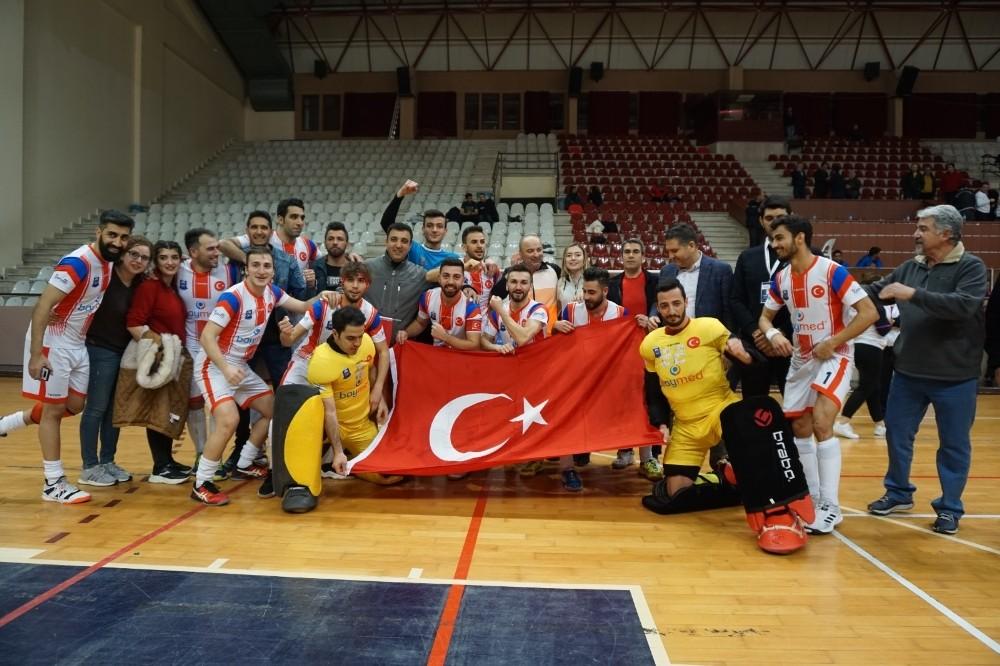 Avrupa Şampiyonluk kupası namağlup unvanlı Gaziantep Polisgücü'nün
