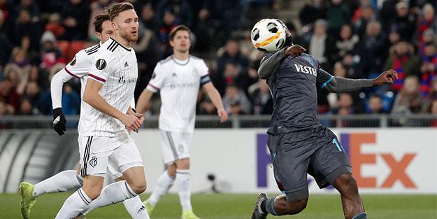Avrupa'yı sallamaz olduk! Trabzonspor Basel'de yine kaybetti