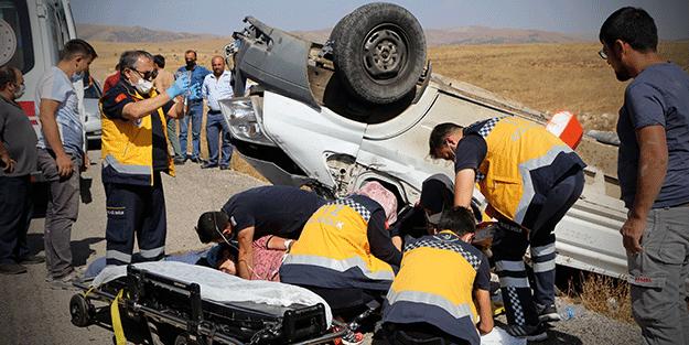 Ayağı kopma noktasına geldi! Sivas'ta feci kaza