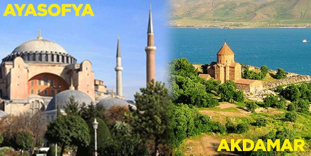 Ayasofya kapalı Akdamar açık! Müslüman'a yasak, Hristiyan'a serbest...