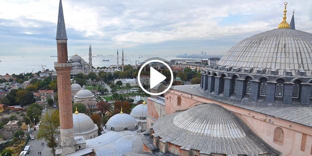 Ayasofya'nın 4 minaresinden 5 vakit ezan sesi yükseliyor!