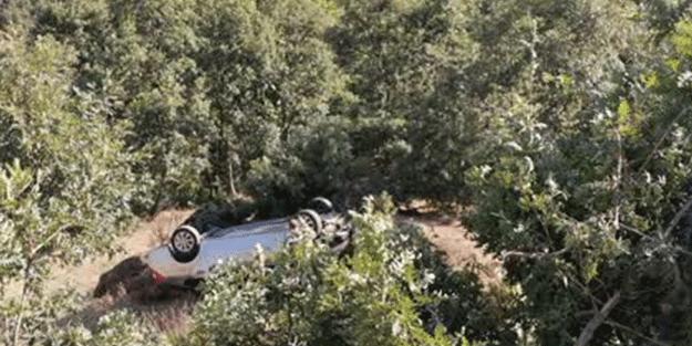 Aydın'da otomobil şarampole devrildi! 1 ölü, 2 yaralı