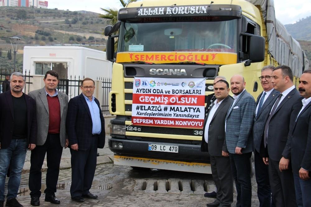 Aydın'daki oda ve borsalar depremzedeler için el ele verdi