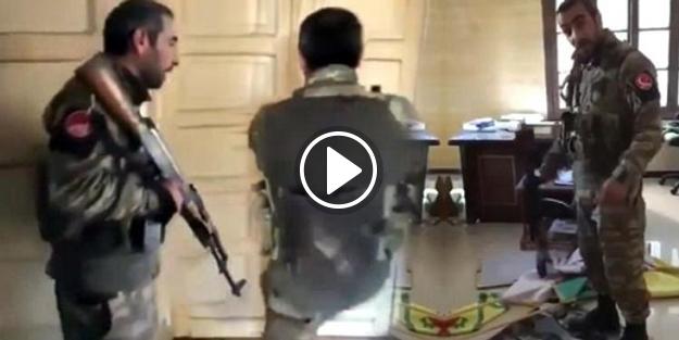 O asker YPG'nin sözde karargahını böyle bastı!
