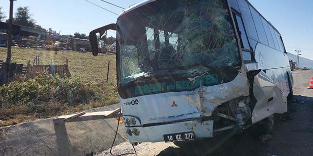 Aynı belediyeye ait otobüsler kaza yaptı! 6 yaralı