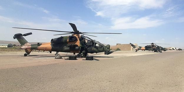 Azerbaycan'daki ortak tatbikatta ATAK helikopterleri de yer aldı