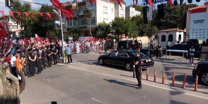 Cumhurbaşkanı Erdoğan, 15 Temmuz törenleri için İstanbul'a geldi