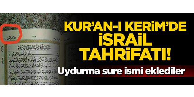 BAE'den Kuranı Kerim'de İsrail tahrifatı!