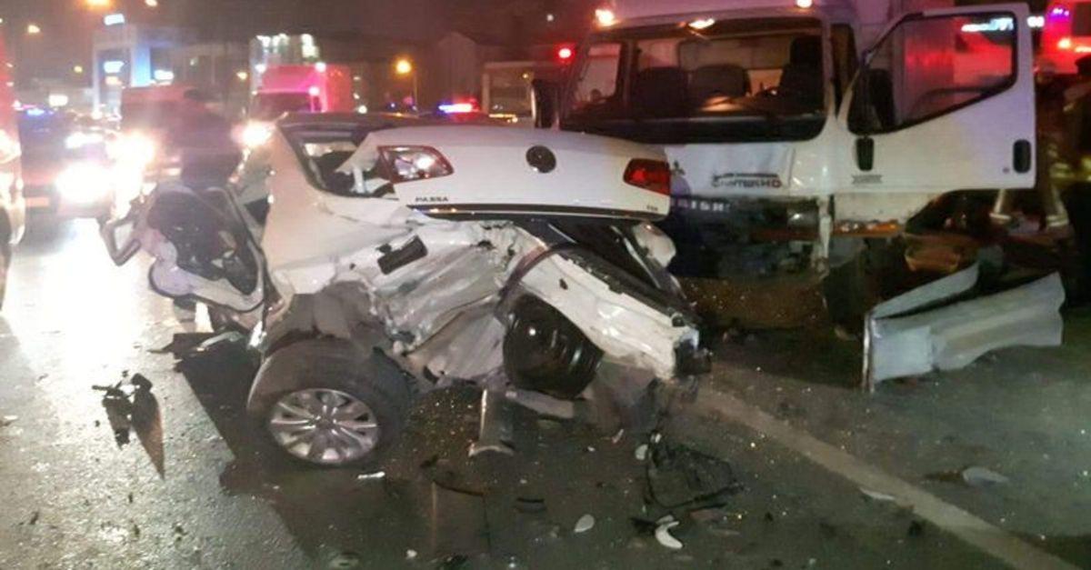 Bağcılar'da trafik kazası! 3 yaralı