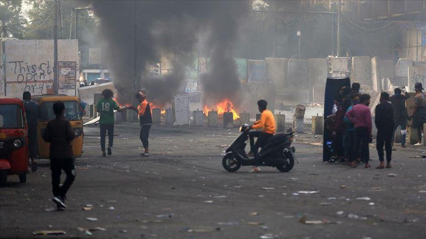 Bağdat'ta güvenlik güçlerinin dünkü gösterilere müdahalesinde 1 kişi öldü