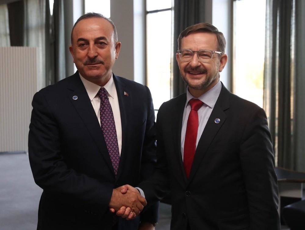 Bakan Çavuşoğlu, AGİT Genel Sekreteri Greminger ile görüştü