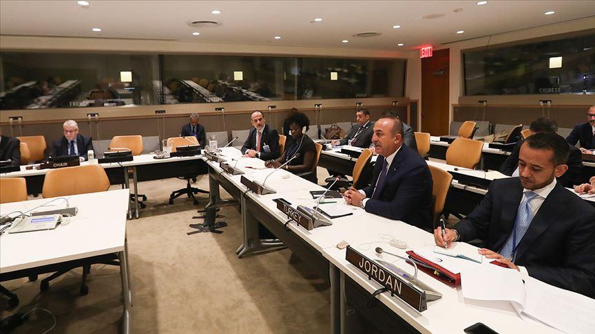 Bakan Mevlüt Çavuşoğlu İİT üyeleriyle Filistin'i görüştü