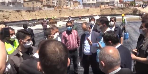 Bakan Murat Kurum'dan müteahhide fırça: İşini düzgün yapmaya niyetin yoksa bırak