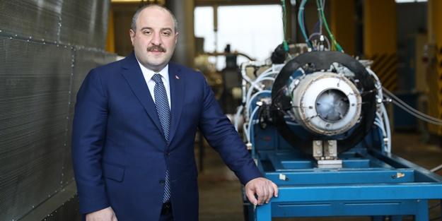 Bakan Mustafa Varank Milli Turbojet Motoru'nu test etti