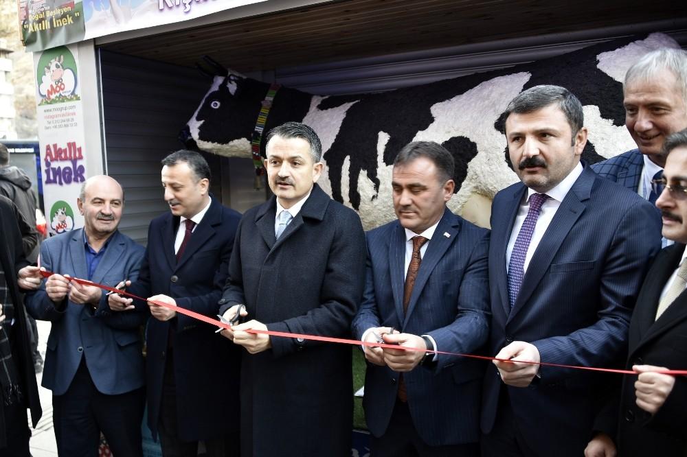Bakan Pakdemirli 'Akıllı İnek' projesinin açılışını gerçekleştirdi