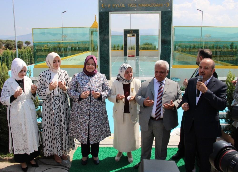 Bakan Selçuk, eski Bakan babasının yaptırdığı namazgahı ibadete açtı
