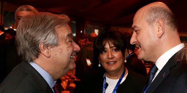 Bakan Soylu, BM Genel Sekreteri Guterres ile görüştü