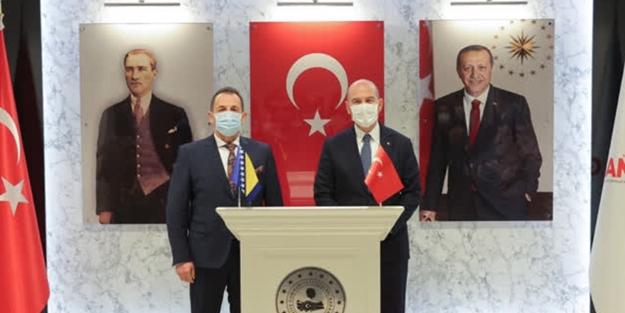 Bakan Soylu, Boşnak Güvenlik Bakanı Cikotic ile görüştü