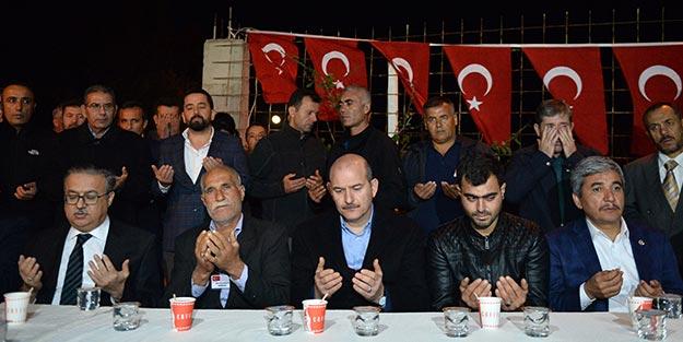 Bakan Soylu'dan şehit Dikmen'in ailesine ziyaret