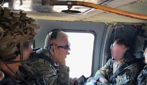 Bakanlık kare yayınladı: Güvenli Bölge'de ilk uçuş