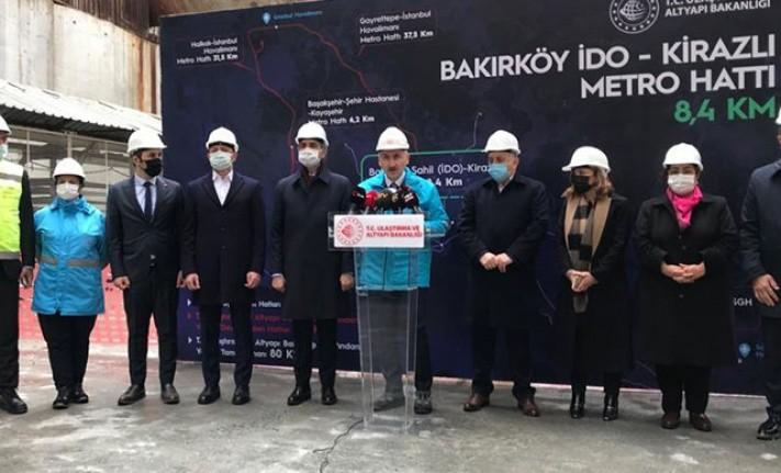 Bakırköy-Bahçelievler-Kirazlı metro hattı 2022 sonunda açılacak