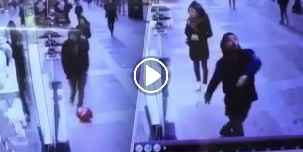 Balona rövaşata atmak isterken ayakkabısından oldu