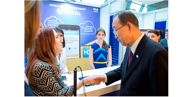 """Ban Ki-moon """"Turkcell hayat kurtaran ve bizim için güven veren bir ortak"""""""
