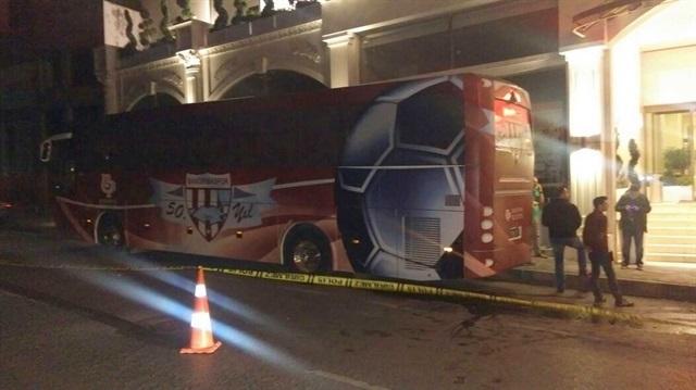 Bandırmaspor otobüsüne silahlı saldırı