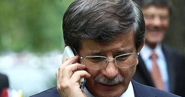 Başbakan Ahmet Davutoğlu'nu arayan sürpriz isim!
