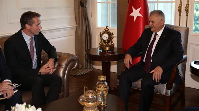Başbakan Binali Yıldırım Danimarkalı Bakan'ı kabul etti