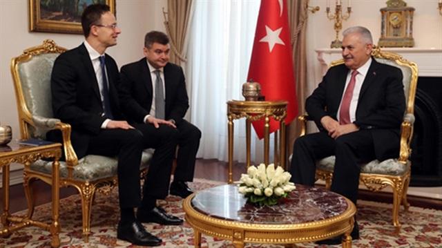 Başbakan Binali Yıldırım, Macaristan Dışişleri Bakanı Szijjarto'yu kabul etti