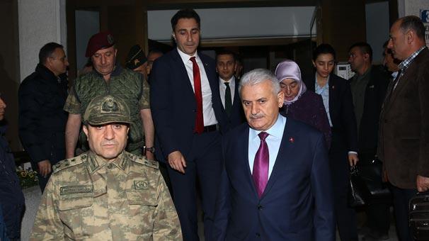 Başbakan Binali Yıldırım'dan Şehit Tümgeneral Aydın'ın ailesine taziye ziyareti