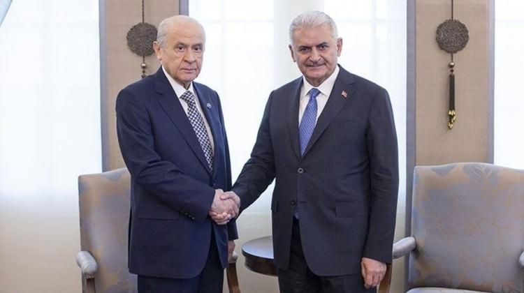 Başbakan Yıldırım Bahçeli ile görüşüyor