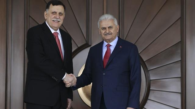 Başbakan Yıldırım ile Libya Devlet Konyesi Başkanı'ndan ortak açıklama