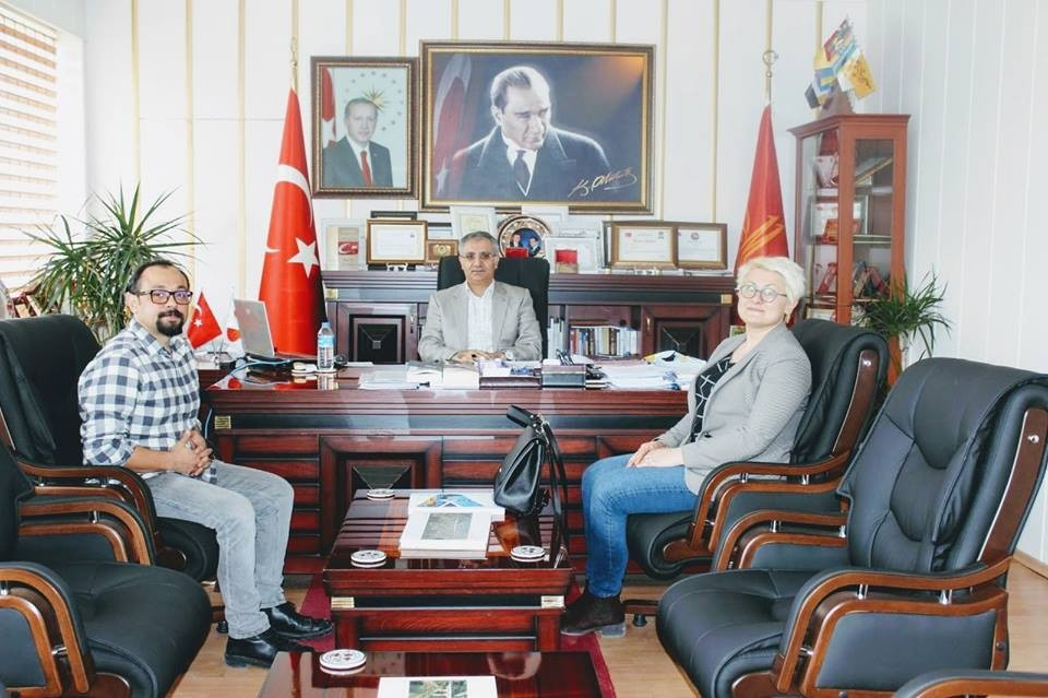 Başhekim Dr. Özyaşar ve yeni göreve başlayan Çocuk Doktoru Yiğit'ten Kaymakam Yavuz'a ziyaret