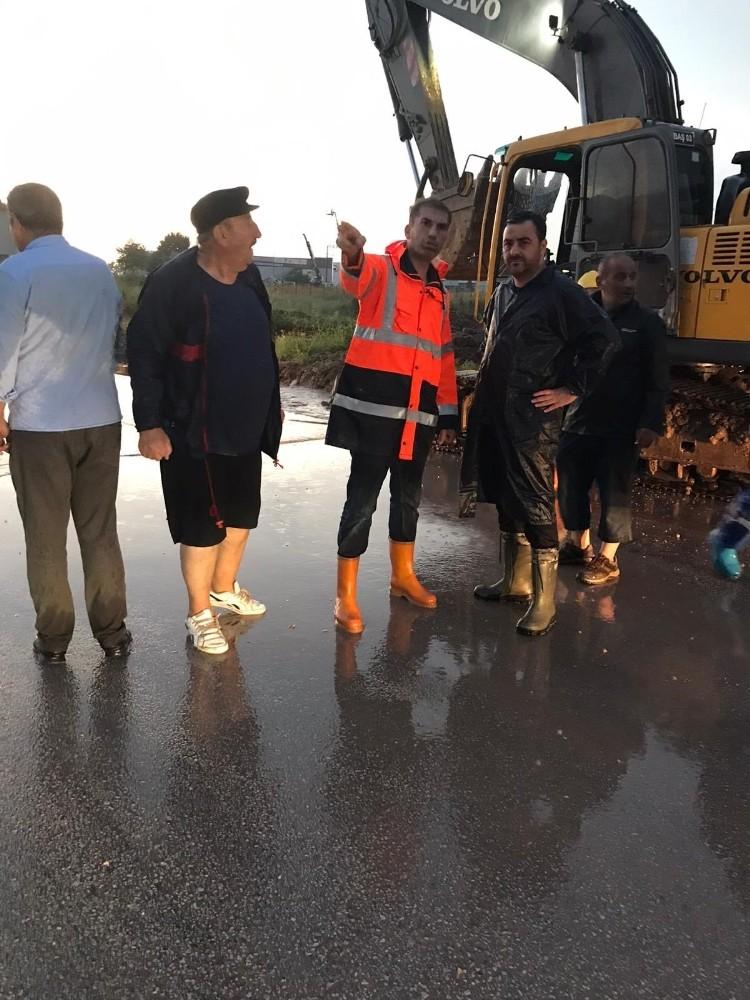 Başiskele Belediyesinden yağmur seferberliği