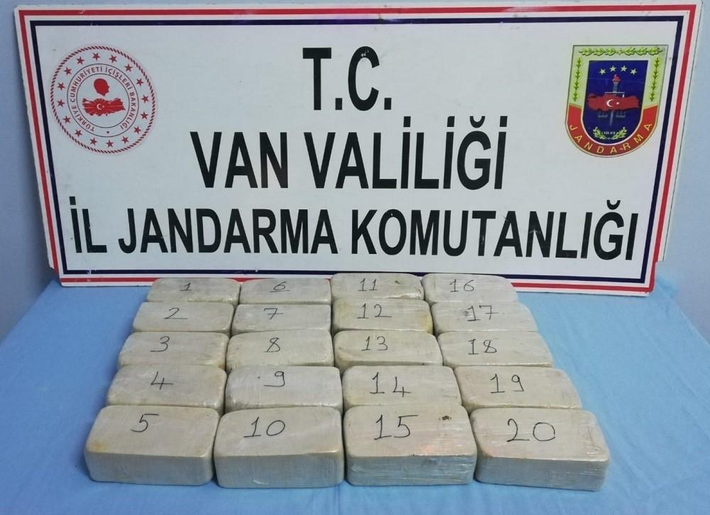 Başkale'de 20 kilo 500 gram eroin ele geçirildi