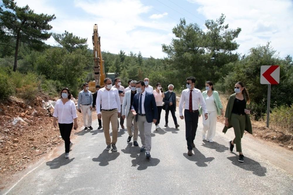 Başkan Aras Güvercinlik, Mumcular ve Yalı Çiftlik'te inceleme yaptı