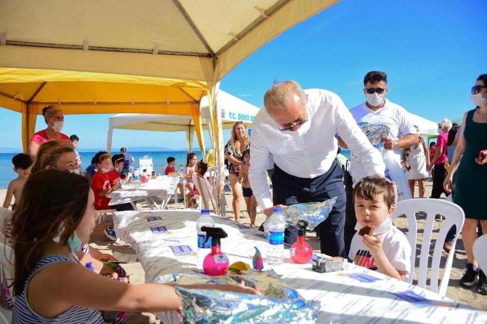Başkan Atabay, Çevre Haftası'nda çocuklarla birlikte doğal dezenfektan üretti