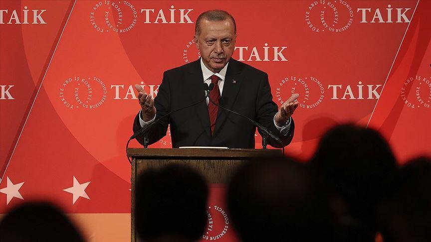 Başkan Erdoğan ABD'de yatırımcılara hitap etti