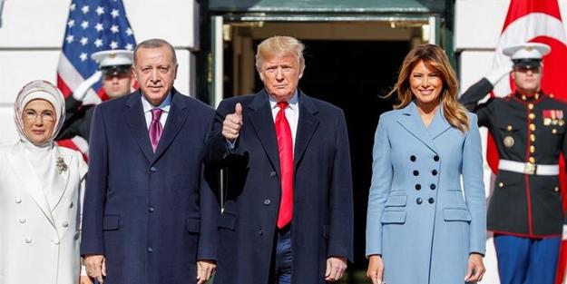 Başkan Erdoğan Beyaz Saray'da! Görüşme başladı