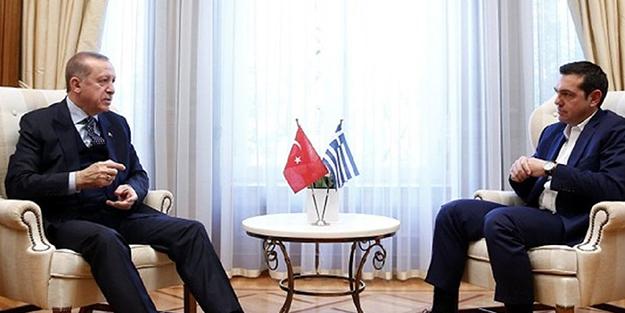 Başkan Erdoğan, Çipras ile bir araya geldi