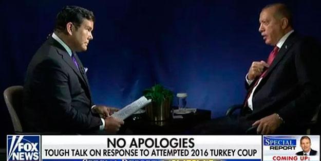 Başkan Erdoğan FOX News sunucusuna ayar verdi!