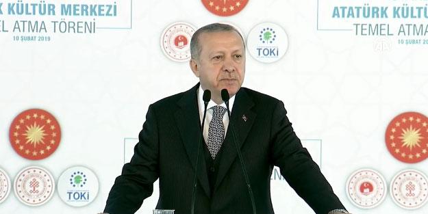 Erdoğan'dan KDV müjdesi! AKM temel atma töreninde açıkladı