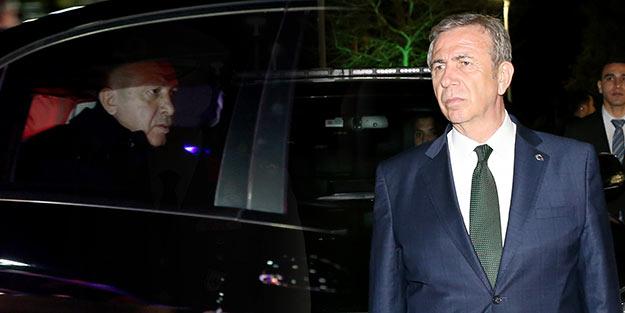 Başkan Erdoğan, Mansur Yavaş'ı karşısında görünce ne yaptı?