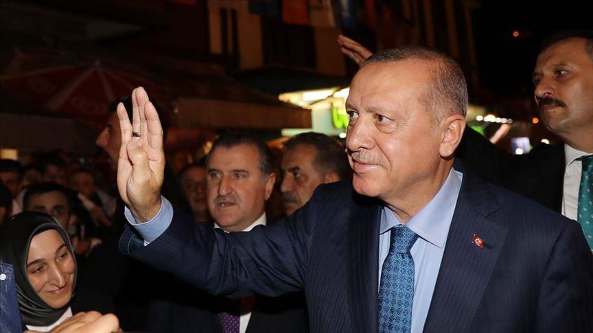Bsaşkan Erdoğan memleketi Güneysu'da