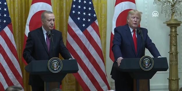 Başkan Erdoğan ve Trump'tan ortak basın toplantısı!